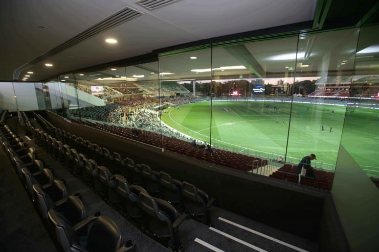 Great views on offer at the Premiership Club