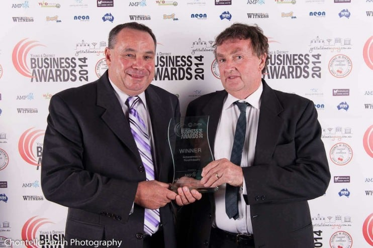 John White (left) of Allied Grain Systems is consistently recognised as a Regional businessman achieving success in Australia