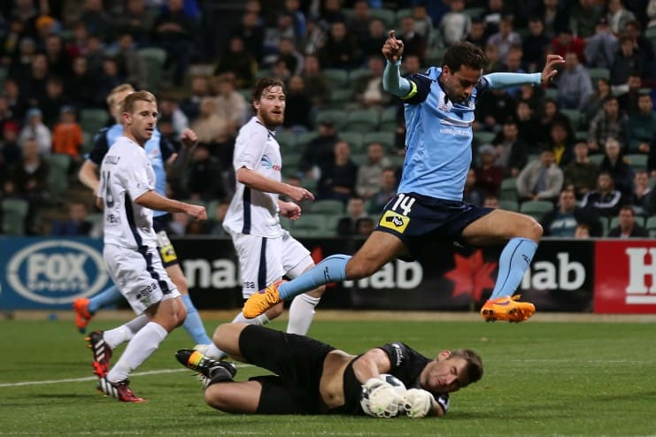 Captain Alex Brosque was a key element in Sydney FC's march to the Grand Final