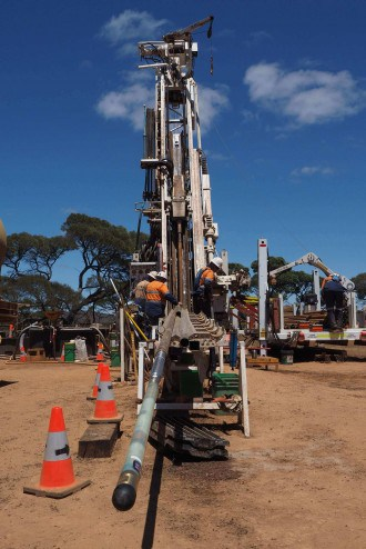 This downhole sensing tool developed by Curtin researchers represents a step change in the quality and amount of data the minerals industry can now capture (Photo: Curtin University)