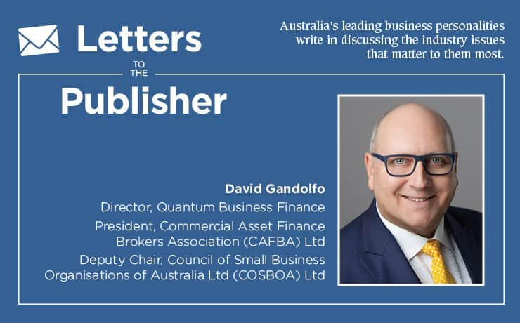 Commercial asset finance brokers association david gandolfo